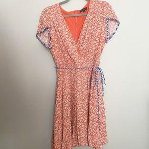 ModCloth Smak Parlour floral wrap dress